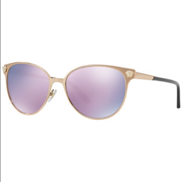 cda0dd77574 NEW Versace VE2168 Sunglasses Gold Pink